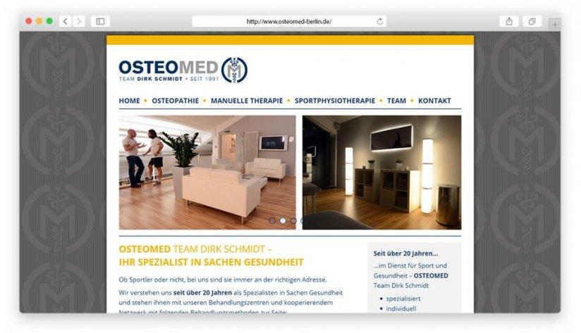 Startseite in der Desktop-Variante