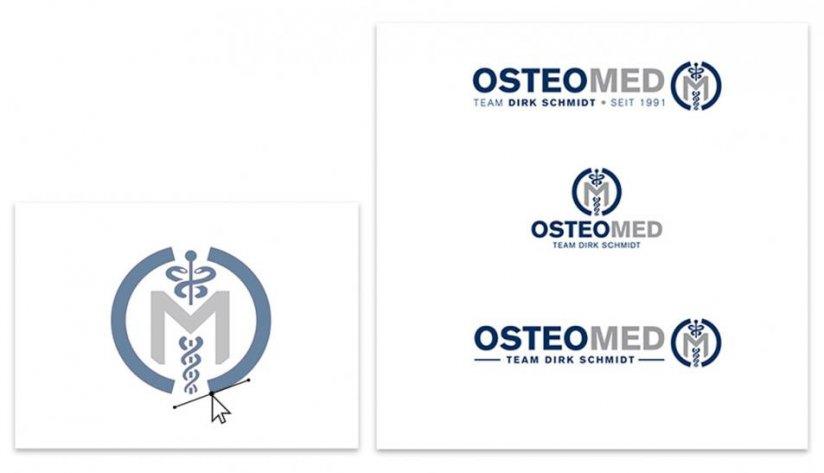 Das OSTEOMED-Logo für verschiedene Anwendungen
