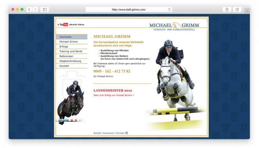 Website und Logo für Michael Grimm.
