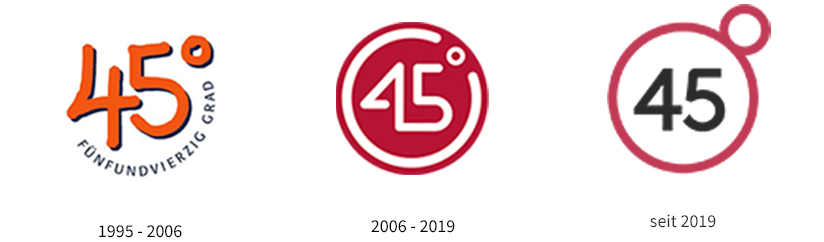45 Grad Logo Timline