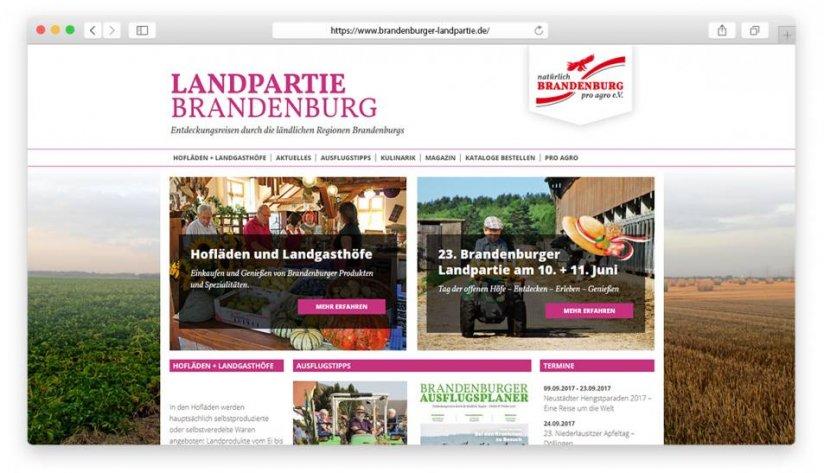 Die Startseite in der Desktop-Version: direkter Einstieg in das Hofladen-Portal sowie zum Tag der offenen Höfe