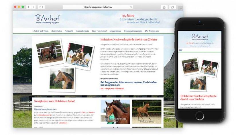 Responsive Website des Auhofs