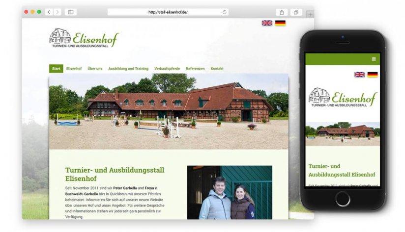 Responsive Website für den Elisenhof