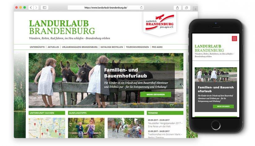 Landurlaub Brandenburg Portal optimiert für Smartphones